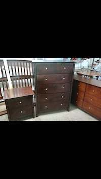 brown wooden dresser and nightstand Rockville, 20850