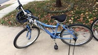 Blue and black hardtail bike. Rarely used, in good condition. 21 km