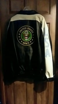 black and white Universal States jacket