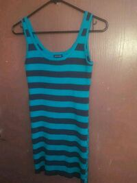 teal and black stripe tank top Las Vegas, 89108