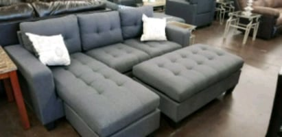 Grey sofa chaise sectional