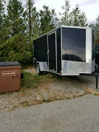 black and gray enclosed trailer Innisfil, L9S