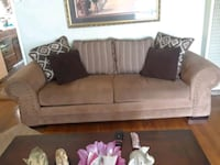 brown suede 2-seat sofa Bakersfield, 93304