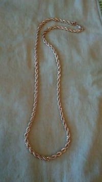 Rose gold plated rope chain necklace Richardson, 75081