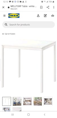 Free 29.75 inch square table