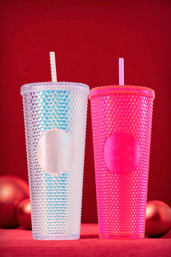 Hot Pink Studded Holiday Tumbler  01e8f030-8bee-47a9-b043-a548b3af84cc