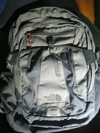 gray The North Face backpack Peabody, 01960