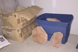 3 full boxes of landscaping stones from schuylkill stoke