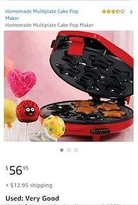 Cake pop maker(retail +$56)
