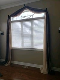 Curtains custom windows design for two windows with hocks  Vaughan, L4J 0A3