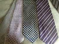 men's assorted neckties silk brand new 7 pcs total