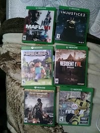 six Xbox One game cases Houston, 77009
