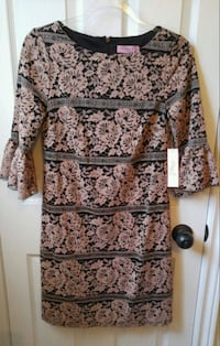 brown and black floral scoop-neck dress Vaughan, L6A 4A3