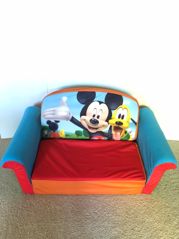 Used Mickey Mouse Toddler S Expandable Couch For In Union City Letgo