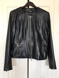 Black DANIER Leather Jacket! Like New! Richmond, V7A