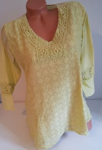 Yellow Cotton Lace Top S/M Burnaby