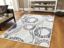 New Cream modern area rug 5x8 medium rug