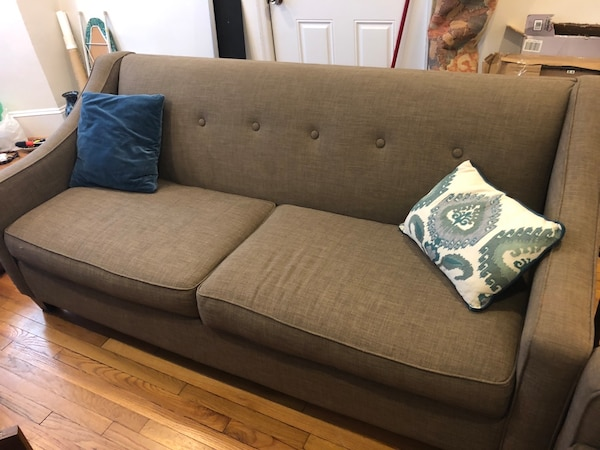 Matching modern sofa and love seat