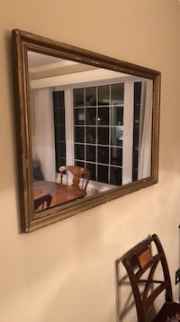 rectangular brown wooden framed mirror Beaconsfield, H9W 1K1