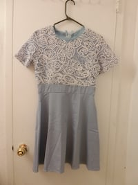 Women's gray and white floral dress Toronto, M3N 2T2