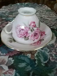 Vintage cup and saucer, England Laval, H7G 2W7