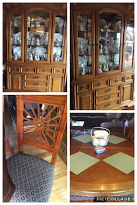 Dining Room Table/Empty Hutch/6 chairs Saddle Brook, 07663