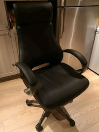 Price drop !!!!! Black leather office chair  Montreal, H3N 2A9