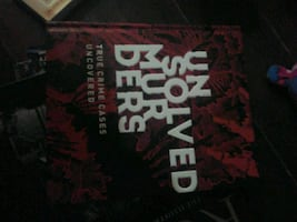 Unsolved murders book brand new never red