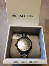round silver Michael Kors analog watch with link bracelet Aurora, 80013