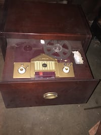 vintage brown wooden music player Toronto, M9B 2A8