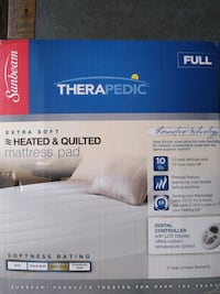 Sunbeam Full Size Heated & Quilted Matress PadCard