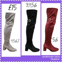two black and brown leather knee high boots West Yorkshire, LS11 7LW