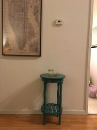 Turquoise side table