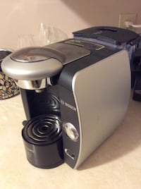 black and grey bosch coffee maker