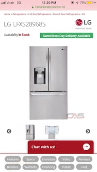 Brand new LG fridge  Pickering, L1V 7A3