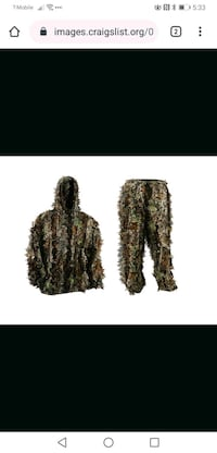 2  piece Camo Suit Ghillie Hooded top + bottom Lightweight Camouflage