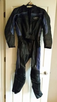black and blue motorcycle race suit Easley, 29642