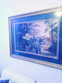 blue and white petaled flowers painting Baton Rouge, 70810