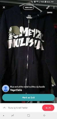 Men's zip up metal mulisha hoodie