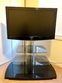 "42"" TV with glass TV stand and shelves Milton, L9T 0C7"