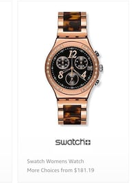 Ladies swatch dream night watch chrono irony water resistant swiss made $200 retail  ***like new used once then stored needs new battery*** Los Angeles, 91423