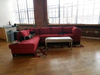 red and black sofa / sectional couch Arlington, 22204