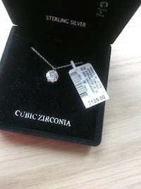 Sterling Silver Cubic Zirconia necklace. Brand new