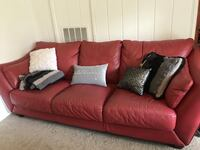 Red true leather couch set Gainesville, 32607