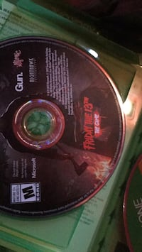 Xbox one Friday the 13th game disc Warrenton, 20186