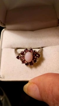 Gourgous Real Garnet.and Pink Opal Ring Colorado Springs, 80904