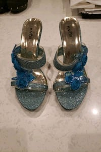 Blue floral and sparkly high heels  Vaughan, L4H 3N5