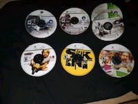 six assorted-title game discs Kitchener, N2H 4H1