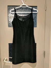 women's black dress with upper clear mesh Calgary, T2E 0B4