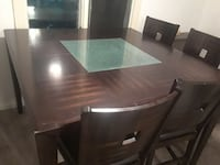 brown wooden dining table with chairs Buffalo, 14211
